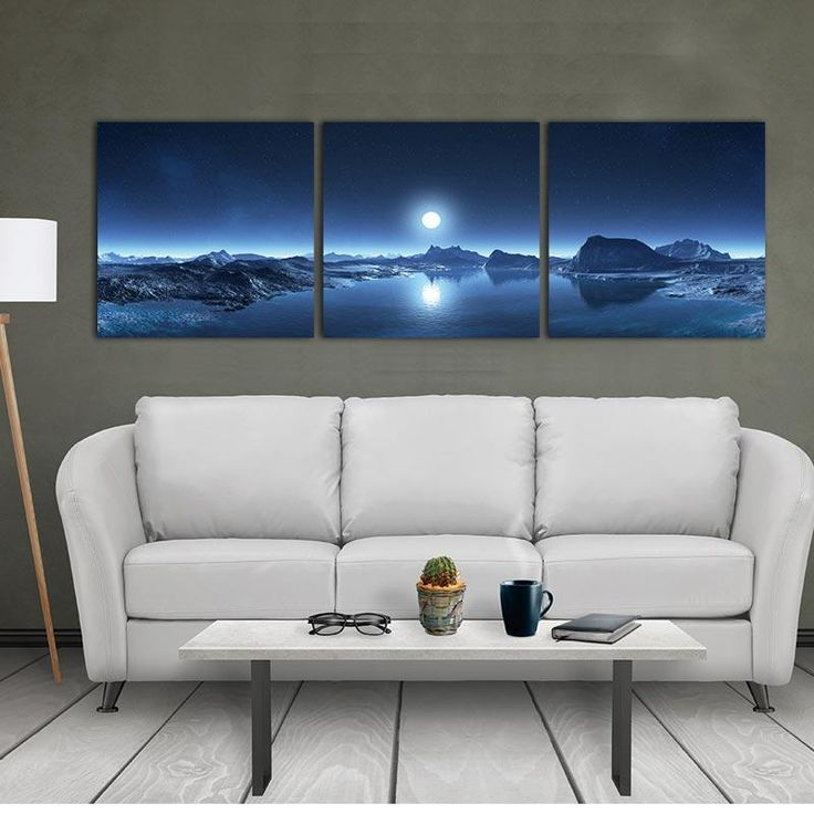 Wall Art For Living Home Decor Canvas painting 3 Panels Modular Picture Canvas Painting Mountain Lake Moon Nature Landscape #walldecor #interiordesigner #homedesign #homedecor #interiordesignideas #wallartprints #artdecor #walldecor #photocanvas #artprint #canvasphotoprints #wallartdecor #wallpainting #livingroomwalldecor