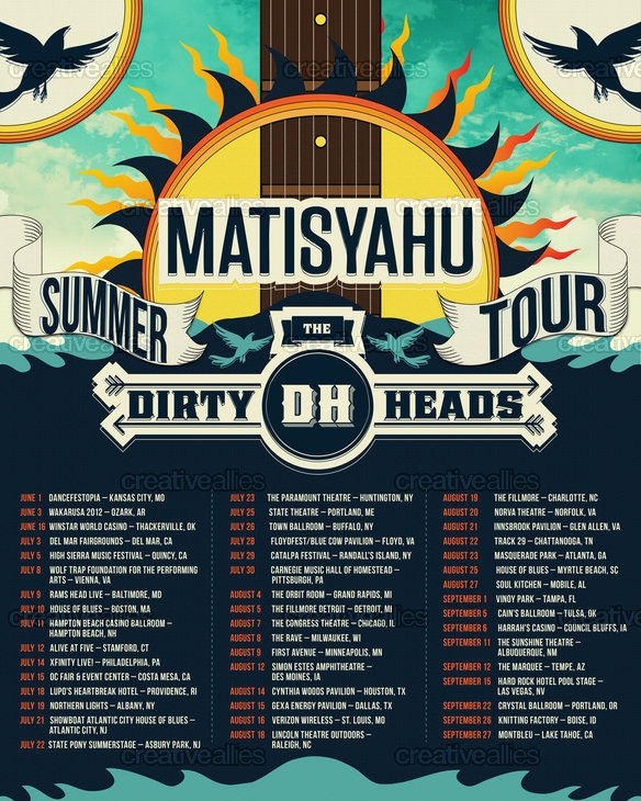 Matisyahu & Dirty Heads Poster by iamtiff