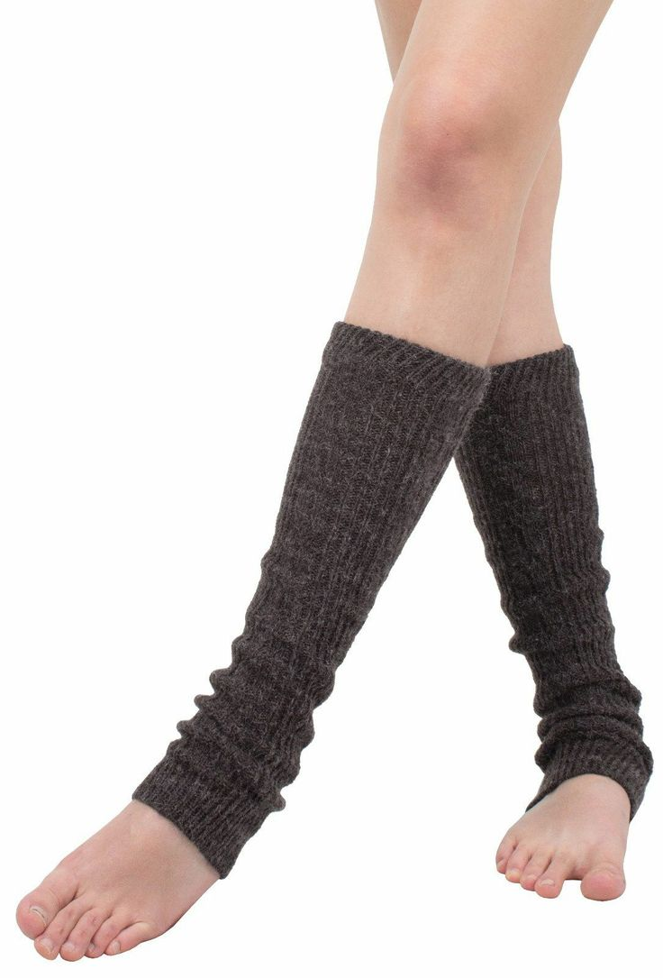 AnnaKastle Womens Girls Fuzzy Cable Knit Leg Warmers Black DarkGray Brown | eBay