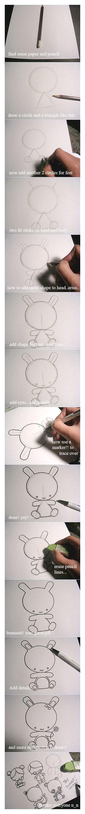Cómo dibujar un personaje en un minuto.