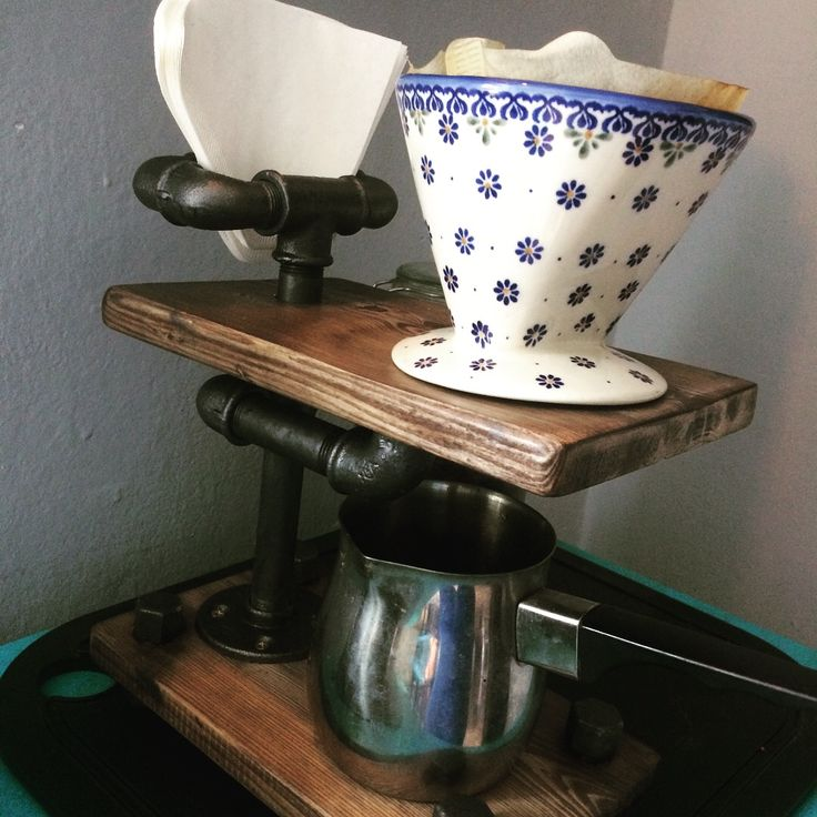 DIY #Pour-Over #Coffee stand made from 1/2 #steel pipe.