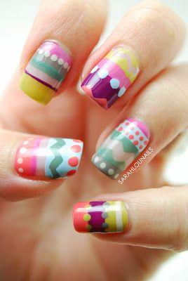Färgglada naglar!