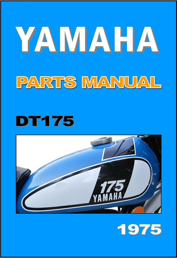 Yamaha Parts Manual DT175 DT175B 1975 Replacement Spares Catalog Catalogue List | eBay