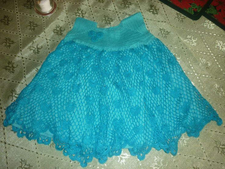 Vestido niña tejido a crochet
