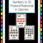 Cute posters of numbers to 20 in German. Great for word walls, as posters or as flashcards.  You will need to print the file off, and laminate. One...