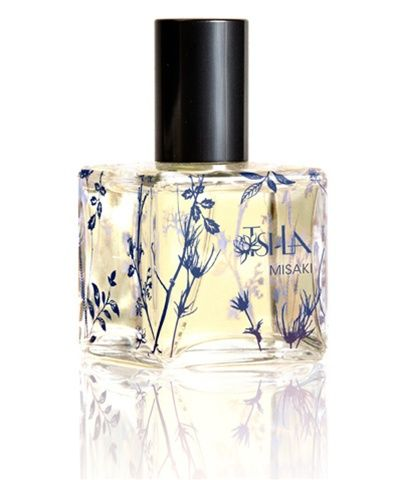 'Misaki' by Tsi la Organics--- French lavender, warm tea, Sicilian bergamot, rich labdanum, green tree moss, Tahitian vanilla orchid, and crushed mint infuse with flower extracts to create a distinctive unisex organic fragrance saturated in tranquility.