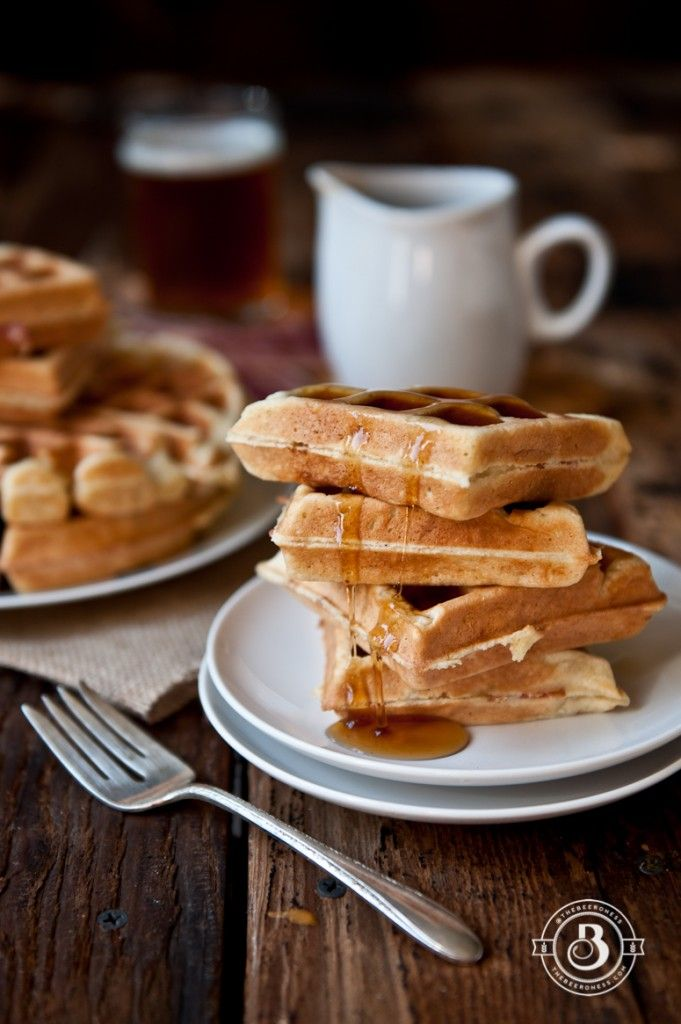Maple Bacon Beer Waffles! These are packed with flavor. While the recipe focuses on light beers for the waffles, I wonder how a dark beer like guinness might work?!