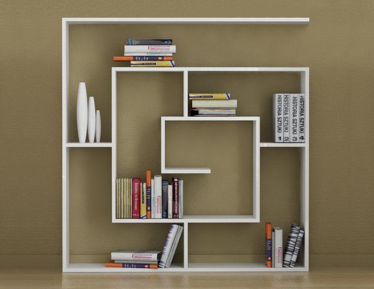 OTURMA ODASI : DECORTIE LABİRENT KİTAPLIK - BEYAZ | Furniture | Pinterest | Shelves, Shelving ...