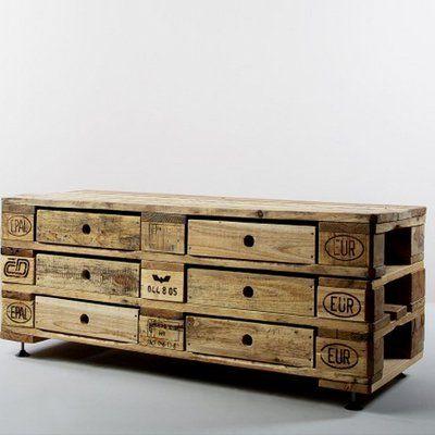 Europalette Kommode DIY Schrank Möbel Selberbauen  | PURISD.de