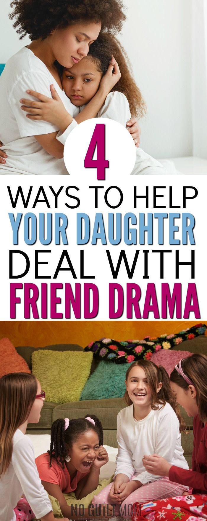Girl drama! Ack, I'm tearing my hair out with this girl drama. All these arguments with good friends seem silly, but this showed me how they're an opportunity. Here's excellent parenting advice on how to encourage your daughter how to have positive relationships, choose good friends and be a good friend. via @noguiltmom