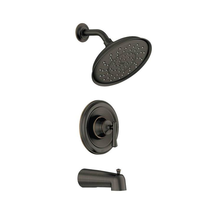 Moen Ashville Mediterranean Bronze 1-Handle Handle(S) Included WaterSense Tub and Shower Valve Included with Single Function Showerhead
