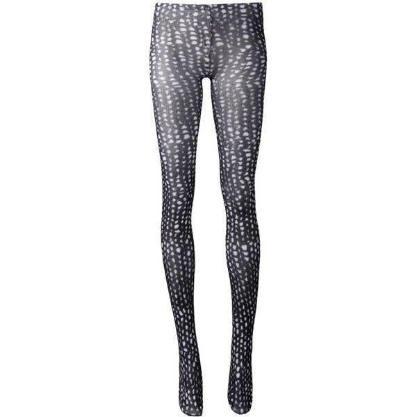 Comme Des Garçons Print Tights ($76) ❤ liked on Polyvore featuring intimates, hosiery, tights, black, print stockings, patterned stockings, patterned pantyhose, comme des garçons and print tights