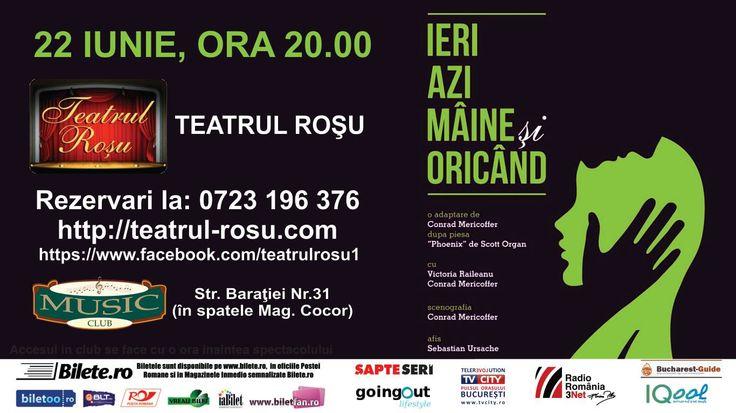 "Concurs – ""Ieri, azi, maine si oricand"" – Teatrul Rosu"