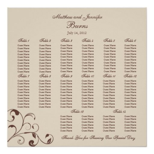 seating chart poster for wedding reception - Akba.greenw.co