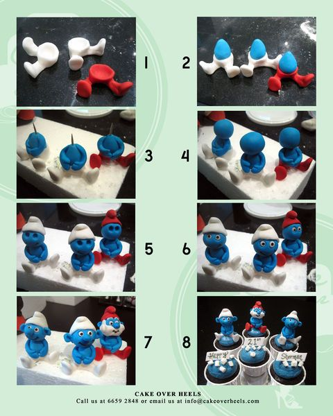 Smurf Figurine Tutorial - by Nicholas Ang @ CakesDecor.com - cake decorating website
