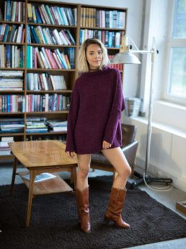 Free People She's All That Pullover #style #outfit #knit #boots #vintage #western #freepeople