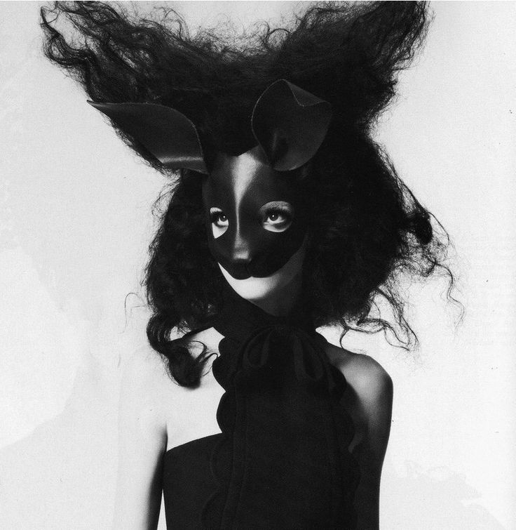 $79.00 USD Rabbit mask in black leather