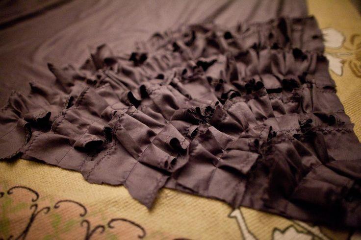 homemade ruffle duvet cover