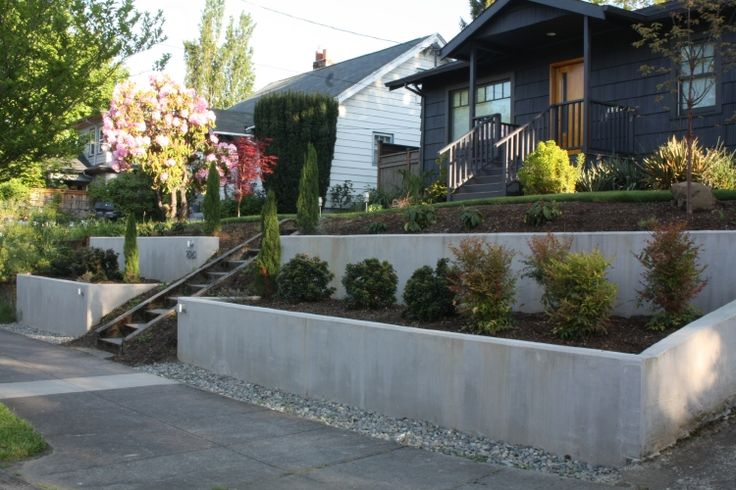 Concrete Retaining Walls | Concrete Retaining Walls - Superwonderful Garden Design