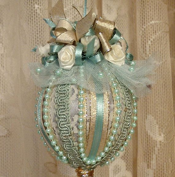 Homemade vintage Christmas Ornaments for Adults | Handmade VICTORIAN CHRISTMAS Ornament / Keepsake - Vintage Style ...