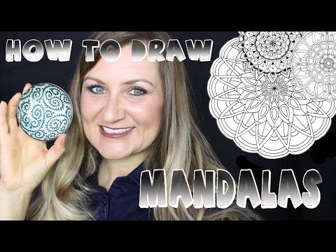 How to Draw a Mandala and Coloring Books! - YouTube