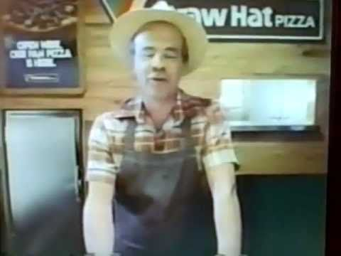 Straw Hat Pizza 1981 TV commercial snippets (w/Tim Conway)