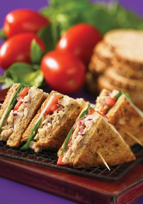 Healthy Grilled Cheese by 150 Best Grilled Cheese Cookbook.olive oil, white tuna, chopped red onion, fresh basil, sprouted or whole-grain, Roma tomatoes, spinach leaves  4 ounces shaved Parmesan cheese
