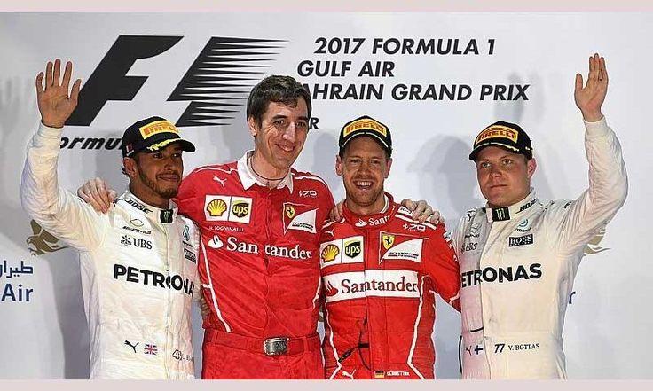 Sebastian Vettel (Ferrari) vainquer du Grand Prix de Bahreïn 2017