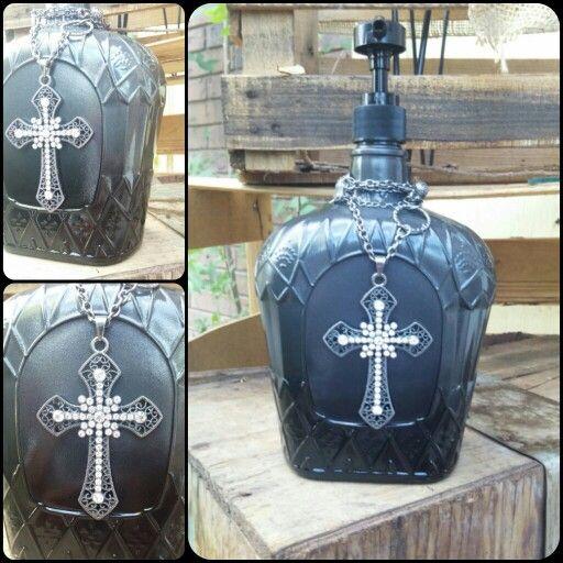 Crown royal lotion bottle.