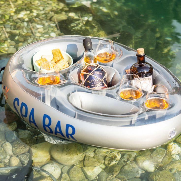 Les 25 meilleures id es de la cat gorie bains remous sur for Bar flottant pour piscine