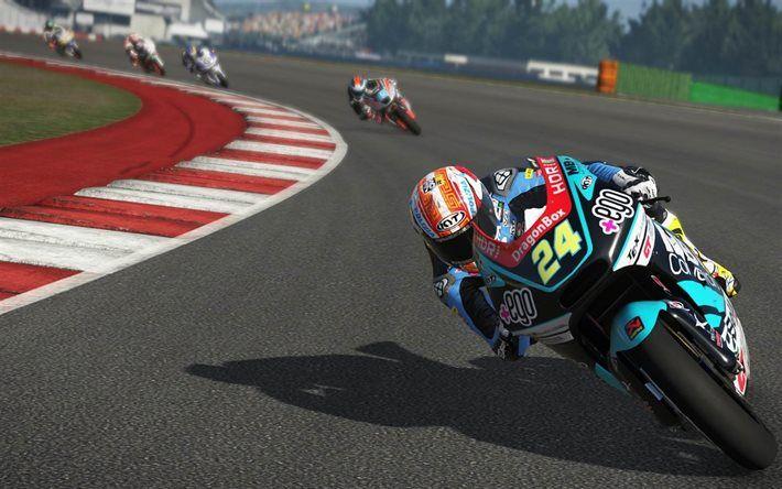 Herunterladen hintergrundbild gameplay, motogp-17, 2017-spiele, sport-simulator