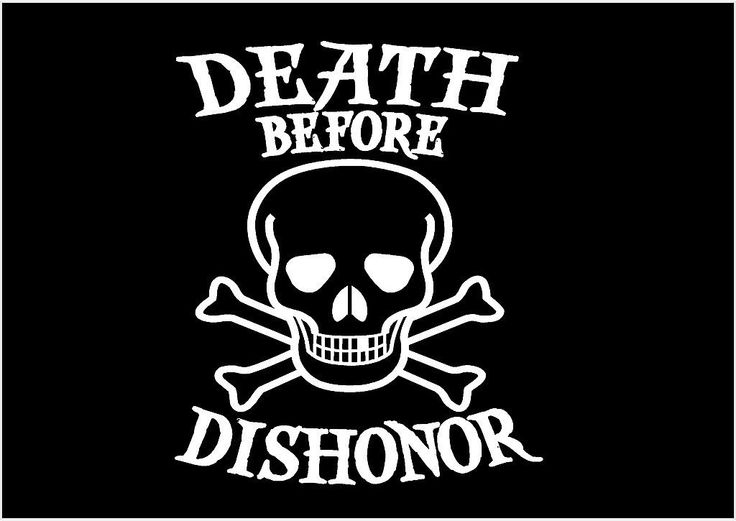 Death before dishonor vinyl decal skull crossbones car truck sticker graphic