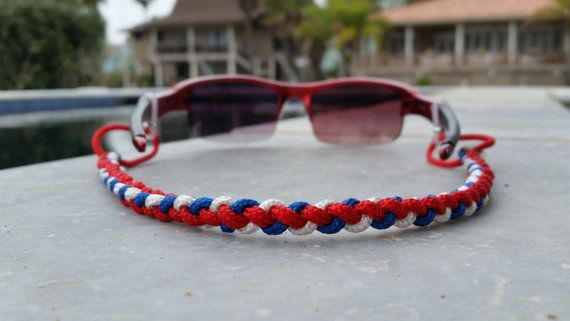 Hey, I found this really awesome Etsy listing at https://www.etsy.com/listing/222855419/the-merica-paracord-sunglass-strap-red