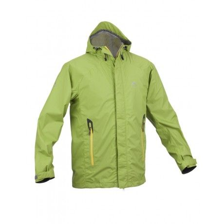 K-Way's Mercury is a lightweight shell jacket made from 100% nylon rip-stop with a waterproof finish. The garment is seam-sealed and is also windproof and vapour permeable. It features engineered arm articulation and an integrated, adjustable hood with a reinforced (bonded) visor. Reflective logos ensure visibility at night.