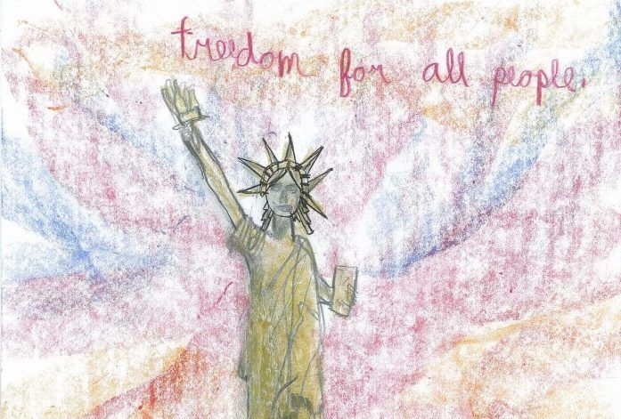 ❤️ Children Illustrate What the Statue of Liberty Means to Them:http://www.chroniclebooks.com/blog/2017/10/25/children-illustrate-statue-liberty-means/