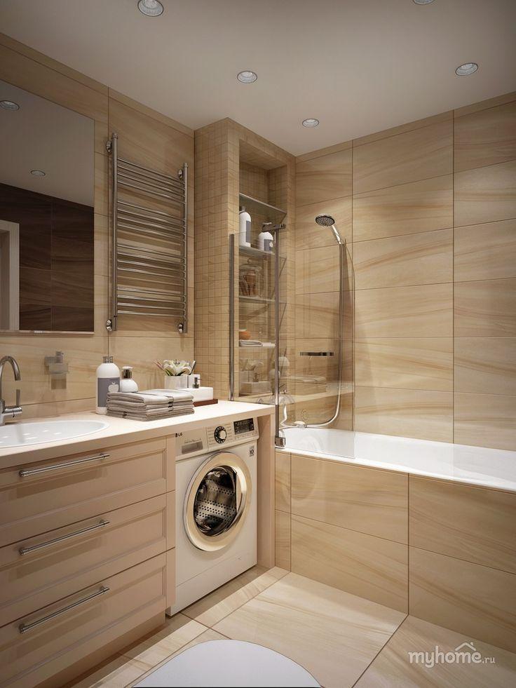 9 best washing machine bathroom images on pinterest. Black Bedroom Furniture Sets. Home Design Ideas