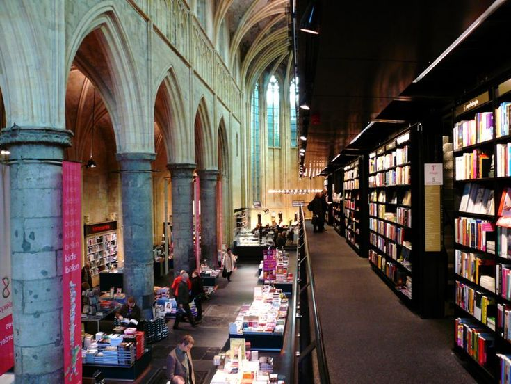 Selexyz Bookstore. Maastricht, Holland. The bookstore is in an old Dominican church. I've been to Maastrict! Wish I had known about this shop! // photo by madcrow via flickr.