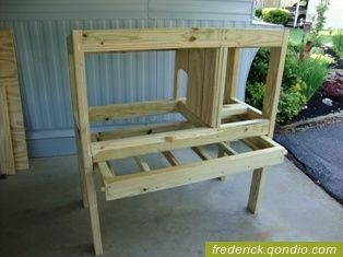 Diy rabbit hutch plans bing images rabbit pinterest for How to build a rabbit hutch plans free