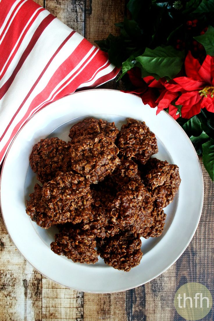 free vegan chocolate peanut butter oatmeal no bake cookies vegan ...