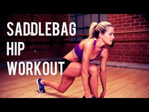 18 Minute Saddlebag Workout To Tone and Strengthen Your Hips and Legs - YouTube