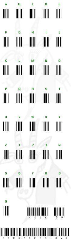 Code 39 besser bekannt unter dem Begriff Barcode