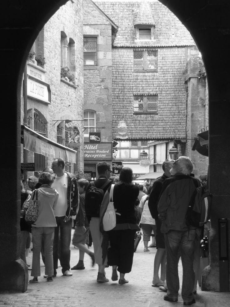 Turistas en el Mont Saint-Michel