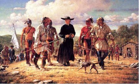 """The Iroquois - the """"Five Nations"""" - included the Mohawk, Oneida, Onondaga, Cayuga, Seneca; in 1722, the Tuscarora made it Six Nations. The Iroquois were bitter enemies of the French, but allies with the British"""