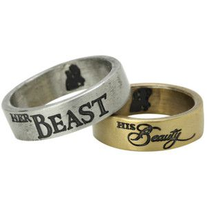 Disney Beauty And The Beast His And Hers Ring Set | Hot Topic