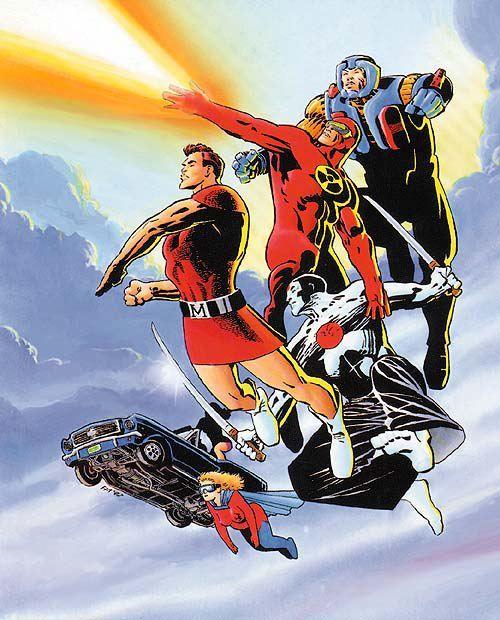 Valiant Universe pinup//Frank Miller/M/ Comic Art Community GALLERY OF COMIC ART