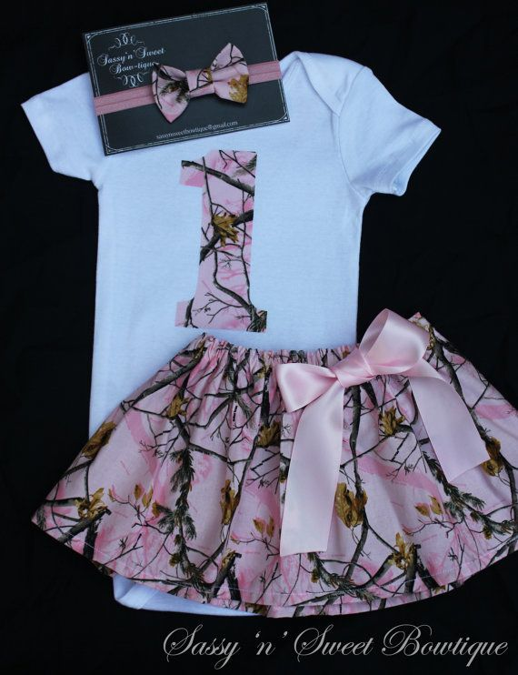 REALTREE Real Tree Pink camo 1st First by sassynsweetbowtique6