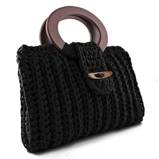 DIY Crochet Kit Zpagetti Bag Vienna Black