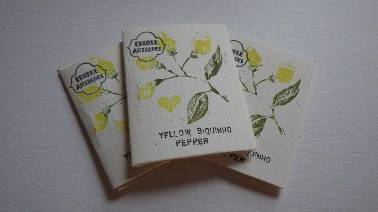 """""""Yellow Biquinho"""" Pepper Seeds"""