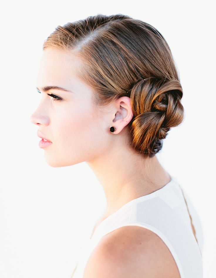 French Braid Bun: This two-in-one hairstyle is for the days you want to have a pulled back look with a little side flair.