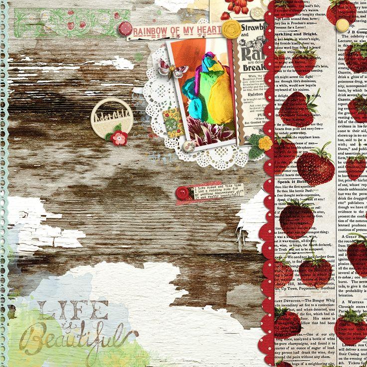 Strawberry Fields Bundle by Janet Scott: https://www.pixelscrapper.com/janet-scott/kits/strawberry-fields-bundle-berry-berries-field-farm-garden-summer-fruit-food-kitchen